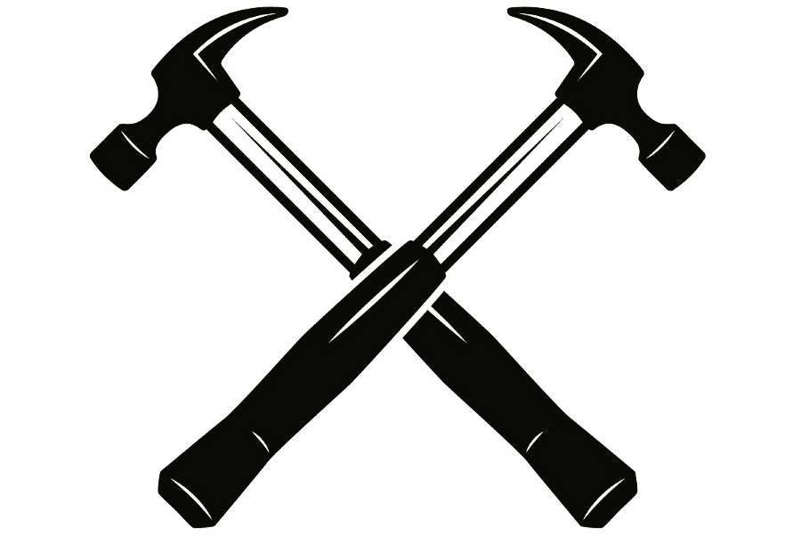 Logo 2 Hammer Werkzeug Toolbox Handwerker Arbeit Arbeiter | Etsy