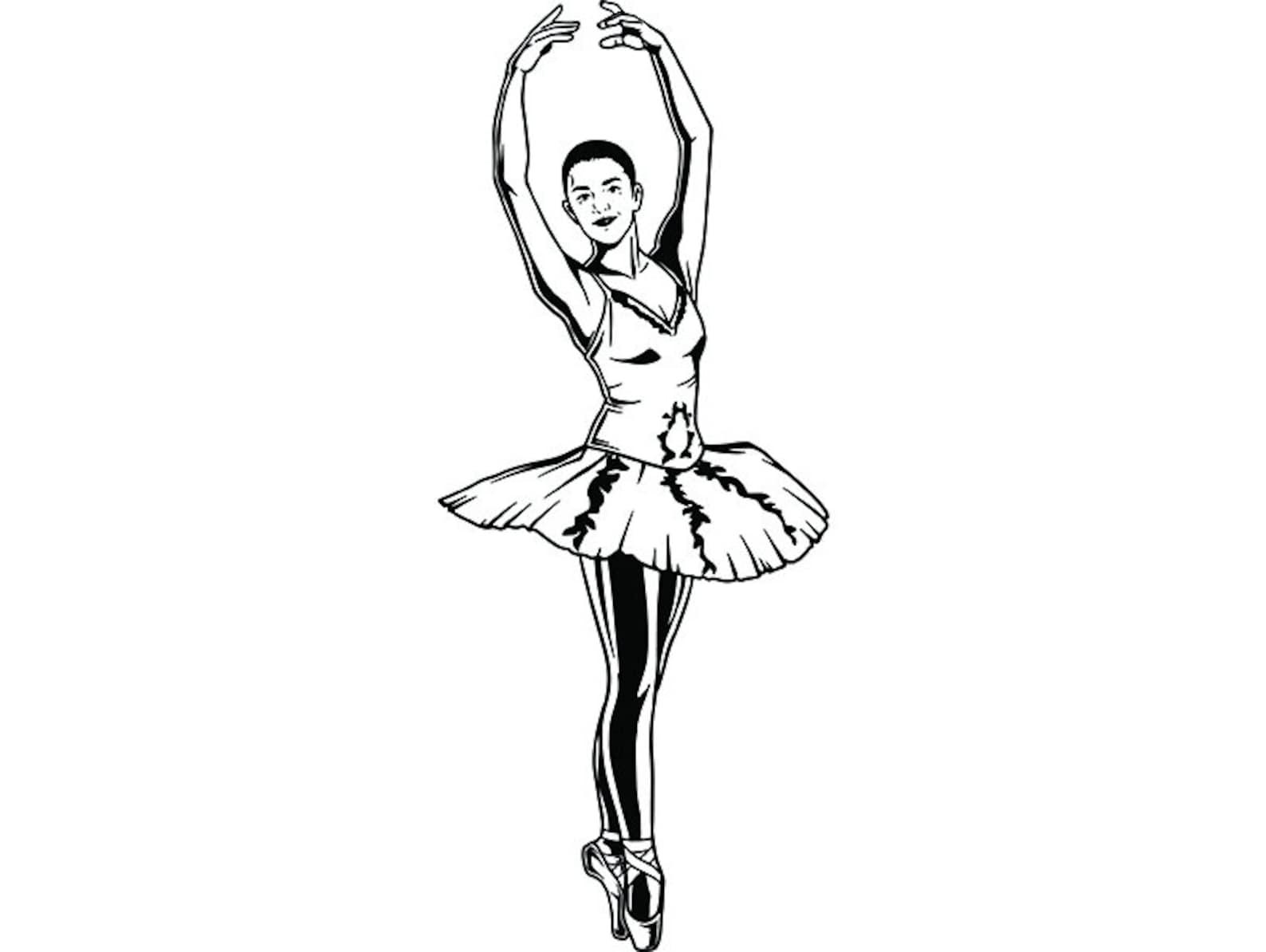 ballet dancer #1 ballerina music dance performance dancing dancer classical grace logo .svg .png clipart vector cricut cut cutti