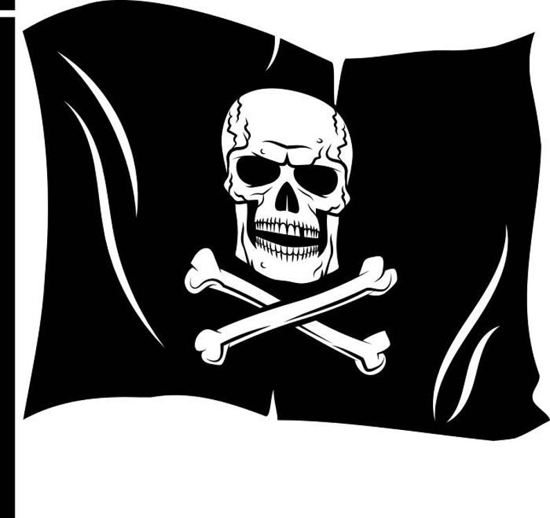 graphic regarding Pirate Flag Printable named Pirate Flag Skull Crossbones Sword Send out .SVG .EPS .PNG Quick Electronic Clipart Vector Cricut Lower Reducing Down load Printable Sbook Document
