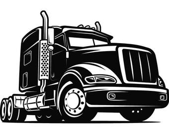Truck Driver #5 Trucker Big Rigg 18 Wheeler Semi Tractor Trailer Cab Flat Bed Company Trucking Logo .SVG .EPS .PNG Vector Cricut Cut Cutting