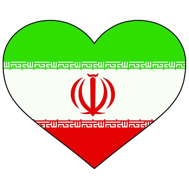 Iran Heart Shaped Flag Iranian Persia Persian Islam Islamic Etsy