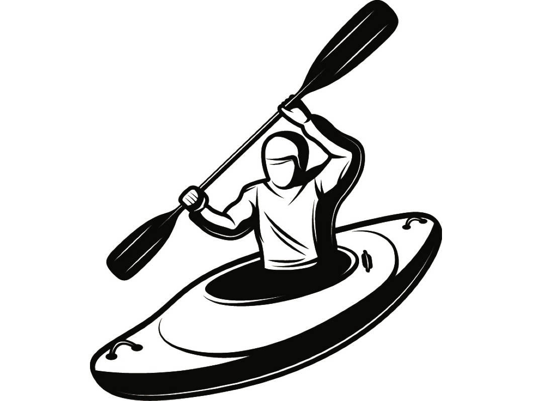 Kayak 5 Kayaking Canoe Canoeing Rafting Water Sport Paddle Paddling Ore Row Rowing SVG EPS PNG Digital Clipart Vector Cricut Cut Cutting From