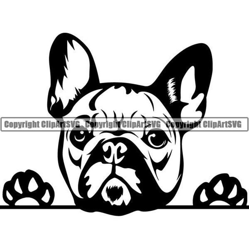 French Bulldog #29 Peeking Paws Cute Tongue Dog Breed K-9 Animal Pet Puppy Canine Pedigree Logo .SVG .PNG Clipart Vector Cricut Cut Cutting photo