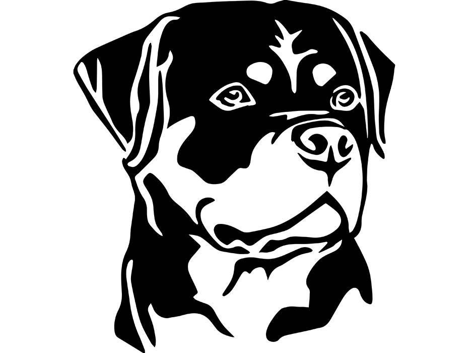 Download Rottweiler 6 Dog Breed Animal Pet Hound .SVG .EPS .PNG | Etsy