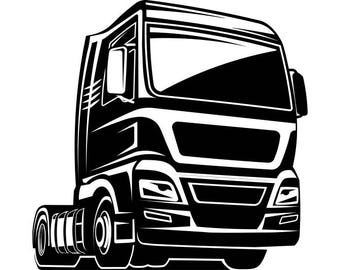 Truck Driver #3 Trucker Big Rigg 18 Wheeler Semi Tractor Trailer Cab Flat Bed Company Trucking Logo .SVG .EPS .PNG Vector Cricut Cut Cutting
