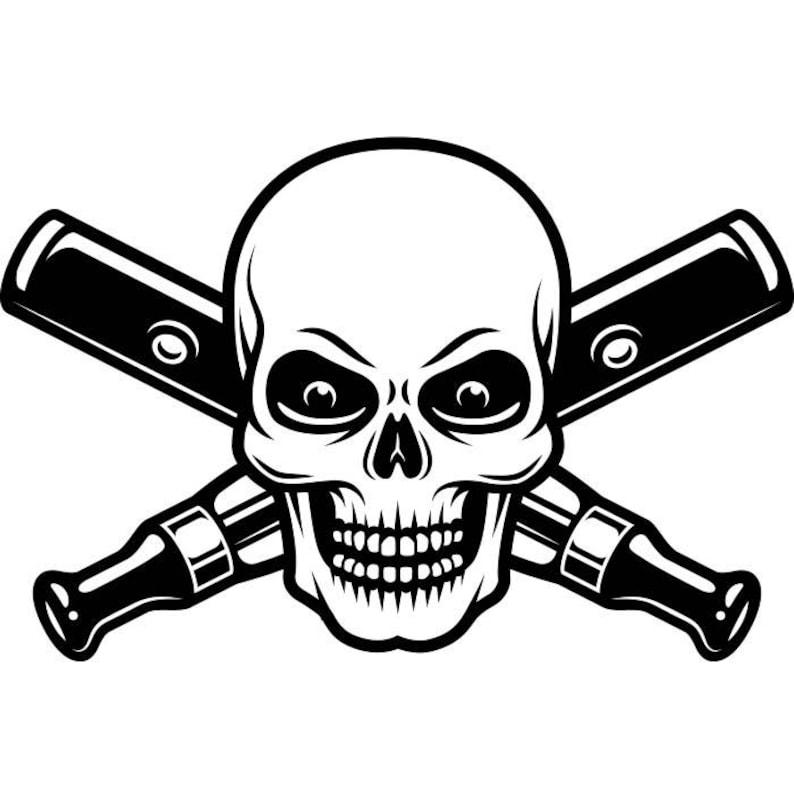Vaporizer Logo 12 Vape Vapor Crossed Skull Smoking Smoke Smoker