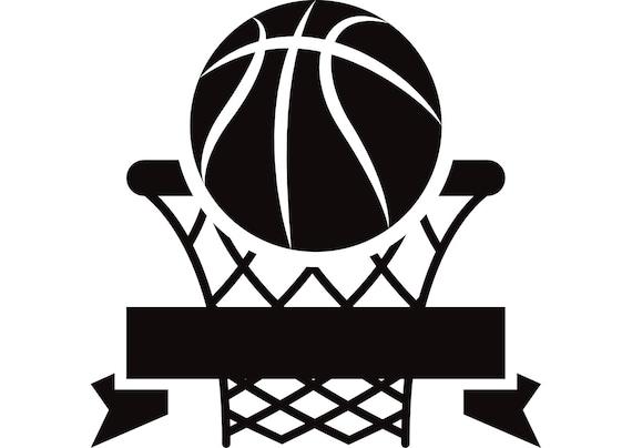 Basket Logo 1 Cerchio Netto Palla Sport Gioco Icona Svg Etsy
