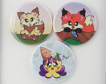 Dragons' Garden Needleminder // Fox Needleminder // Squiddy Needleminder