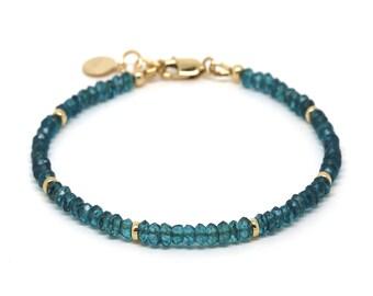 London Blue Topaz gemstone bracelet.