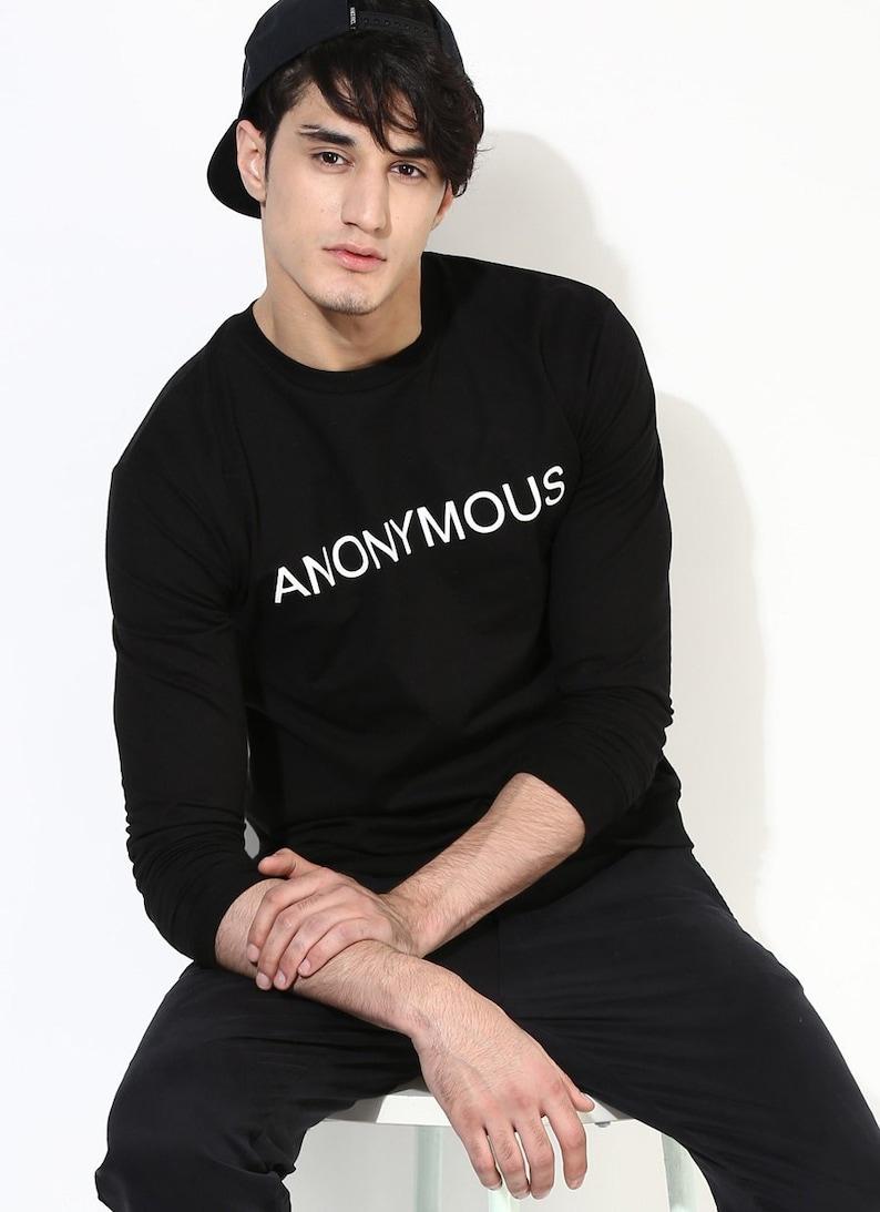 77821e67d Black Printed Sweatshirt. Black Sweatshirt. Fair Trade | Etsy