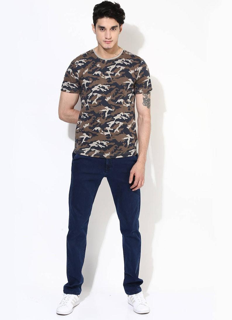 f6b89158e Camouflage Organic Cotton Tee. Trendy T-Shirt for Men. | Etsy