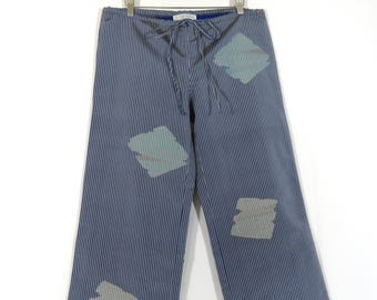 Low Waist Pants made from Vintage Japanese Kimono Fabric