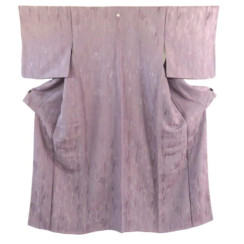 Vintage Japanese Kimono  Iromuji  Purple  Mon-Isho  B71