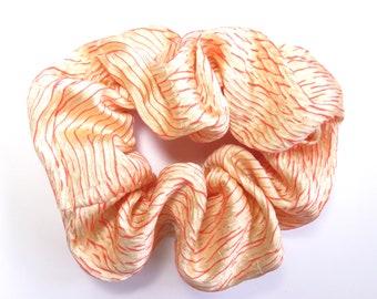 Scrunchie made from Vintage Japanese Kimono Fabric / Shibori
