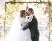 Wedding  Backdrop - Copper Backdrop  - Copper Arch - Bohemian Backdrop - Backdrops - Wedding Ceremony Backdrop - Wedding Arch - Floral Arch