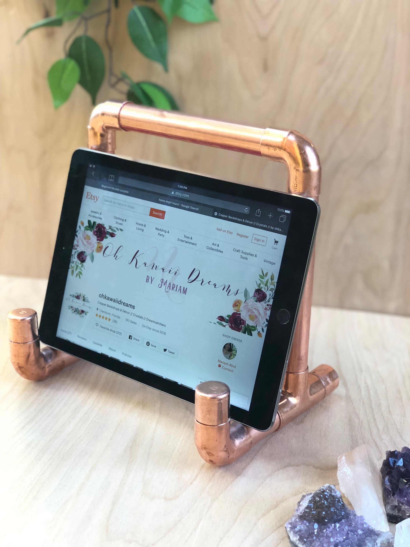 Copper ipad stand Copper Tablet Holder Copper Decor
