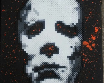 Michael Myers of Halloween (Perler on Canvas)