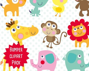 Baby Animals clipart commercial use, Baby Animals clipart vector graphics, Baby Animals  digital clip art, Baby digital images - CLIP009