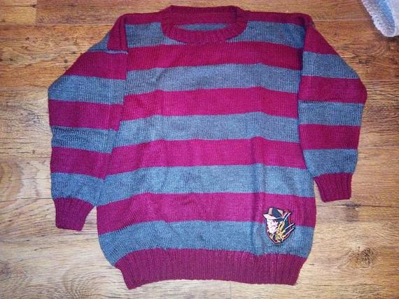 A Nightmare On Elm Street Freddy Krueger Sweater Jumper Knitted XL