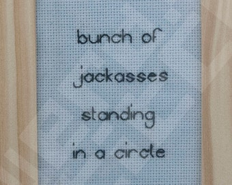 FREE SHIPPING Guardians of the Galaxy finished backstitch quote