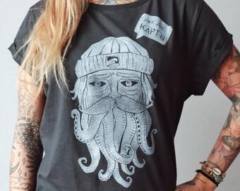 Sailor Linocut T-Shirt for Women