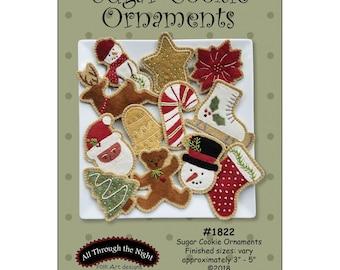 Sugar Cookie Ornaments Pattern - All Through The Night - Bonnie Sullivan - Folk Art Designs  - 1822