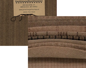 Taupe Wool Charms - 5 inch squares wool - Primitive Gatherings - PRI 6019 Primitive Gather