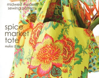Amy Butler Midwest Modern spice market tote pattern