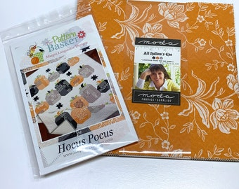 All Hallows Eve Layer Cake - Fig Tree Quilts -  20350LC Moda Precuts choose layer cake or layer cake with Hocus Pocus pattern