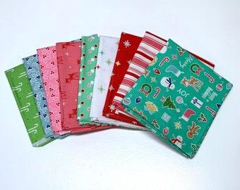 Cozy Christmas Fat Quarter Bundle - Lori Holt - Riley Blake Designs
