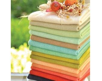 Retro Farmhouse Wool Bundle RFWB Weeks Dye Works - Fig Tree Quilts - 14 Fat Eighth cuts - 100% wool cuts