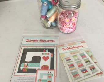 Mini Spools and Stitched with Love Pattern Set - Thimble Blossoms - Camille Roskelley
