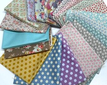 Tilda Fat Quarter Bundle - Cotton Fabric - Meadow - Maple Farm - Tiny Farm - Bon Voyage - Sophia