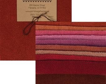 "Primitive Gatherings Wool 5"" Charm Primitive 3 - PRI 6027 - 10 pieces 100% wool"