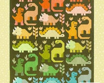 Dinosaurs Quilt Pattern - EH 058 Patterns By Elizabeth Hartman