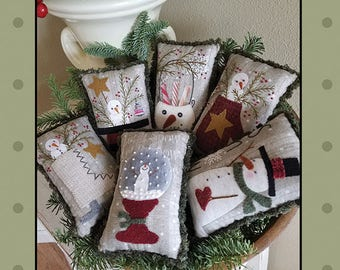 Snow Days Bowl Fillers pattern by Bonnie Sullivan, All through the night , Bonnie Sullivan