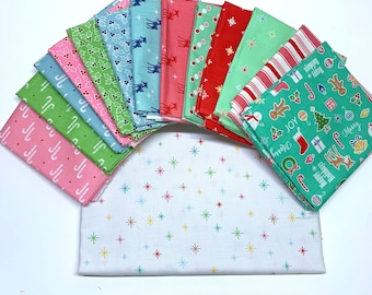 Lori Holt Cozy Christmas Fat Quarter Bundle - Riley Blake Designs