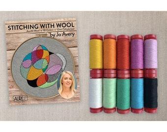 AURJA12SW10 Stitching with Wool - Jo Avery - Aurifil - Designer Thread Assortment