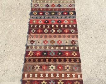 275x79 cm 9x2,6 feet Hallway rug,runner, tribal kilim,vintage runner kilim,anatolian kilim,livingroom kilim runner,floor kilim,rug runner