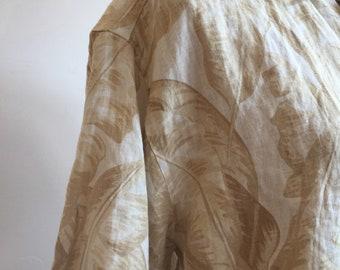 1990s does 1950s Hawaii Shirt, Quality Cotton, Tropical Leaf Print