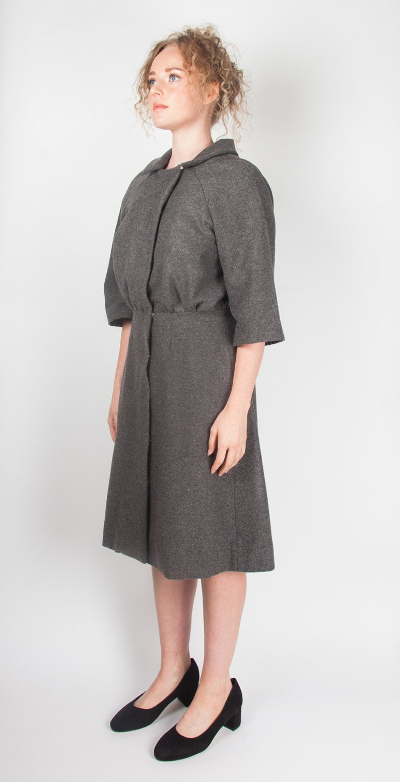 ae1acf9d592 Grey Flannel Coat Dress 1950s style workwear classic