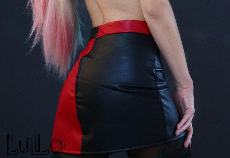 Harley Quinn set crop top skirt dress cosplay costume | Etsy