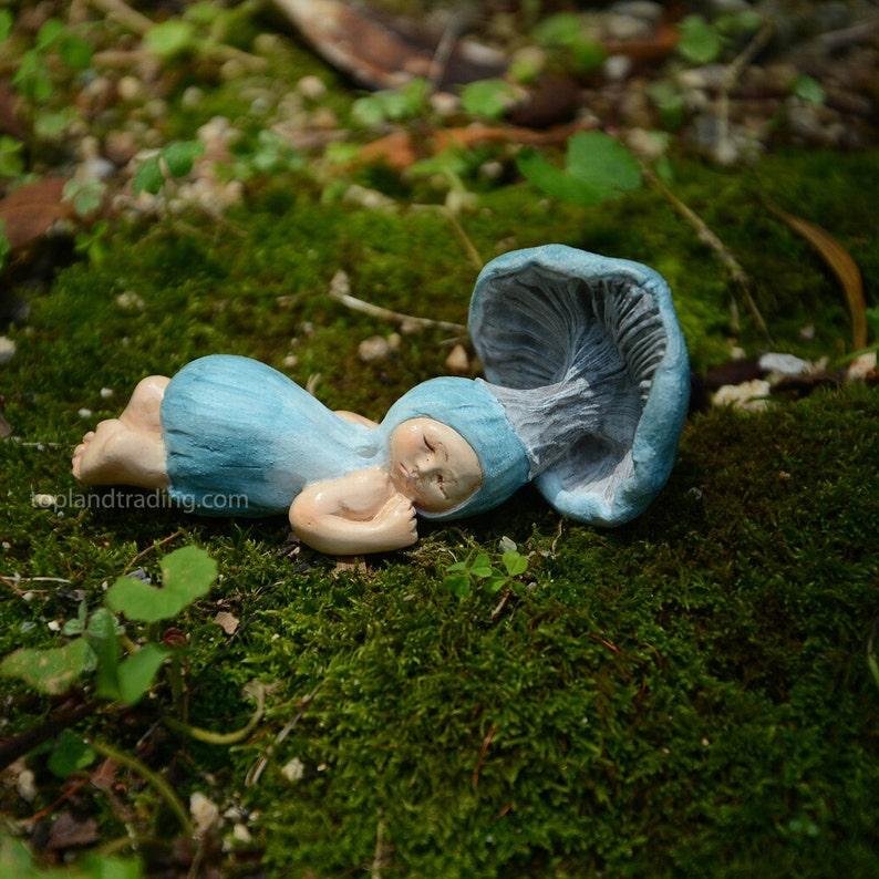 Miniature Figurine FAIRY GARDEN ~ Sleeping Shroomie Mushroom Fairy Babies ~ NEW