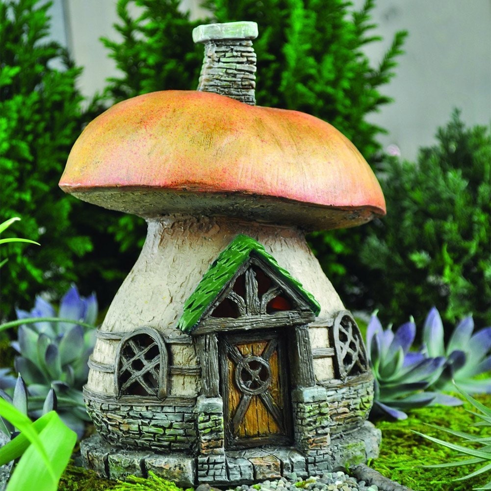 Miniature Dollhouse FAIRY GARDEN Half Moon Fairy Cottage Accessories