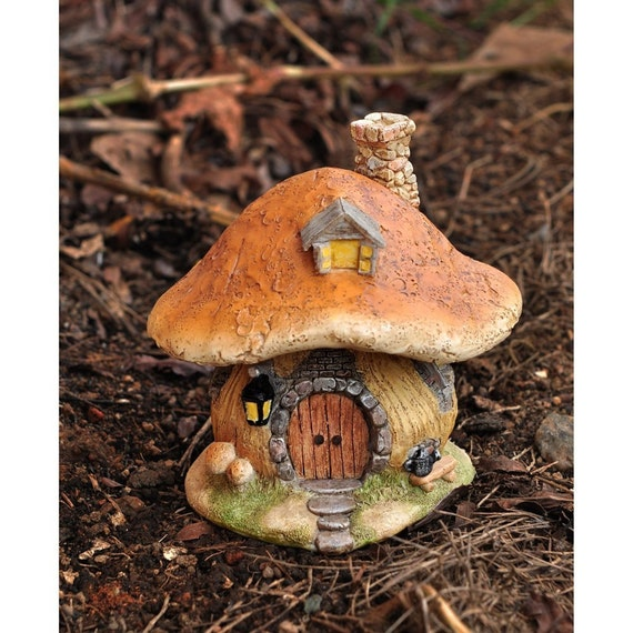 Miniature Dollhouse FAIRY GARDEN Mushroom Fairy House NEW | Etsy