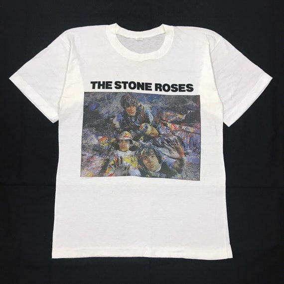 The Stone Roses OFFICIAL Original Album Cover T-Shirt Band Madchester Indie 13D