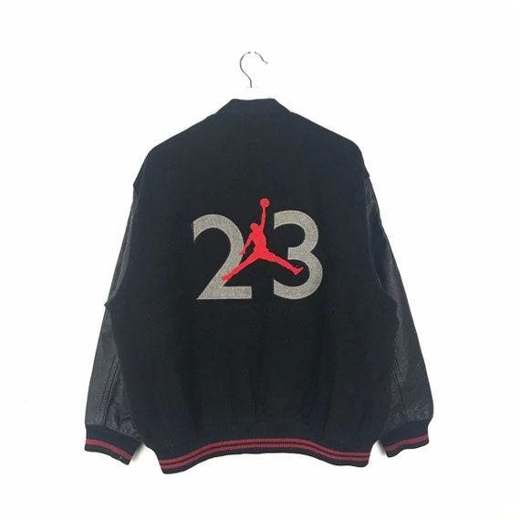 74d094104 NIKE AIR JORDAN Jumpman 23 Wool / Leather Sleeve Varsity Jacket