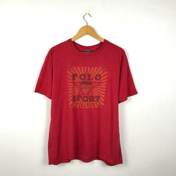 Off Sport Lauren Tshirt Large 90s Reg Pat Size Polo Us 67 Vintage Ralph Flag kOPiZXu