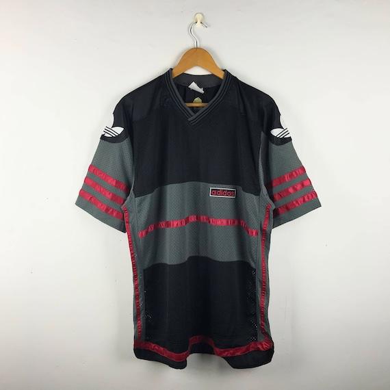 Size ADIDAS Logo Vintage 90s Stripe Big Large Mash Jersey Streetwear wqf8a1x6w