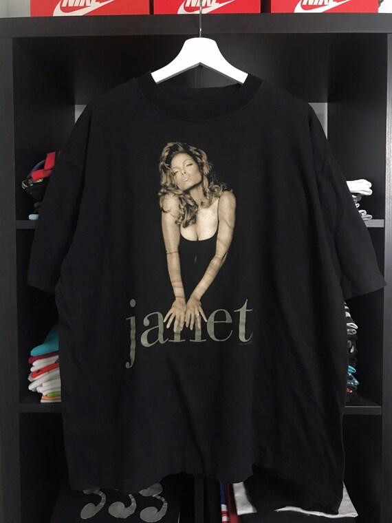Vintage 1993 Janet Jackson Stunning Graphic Rap te